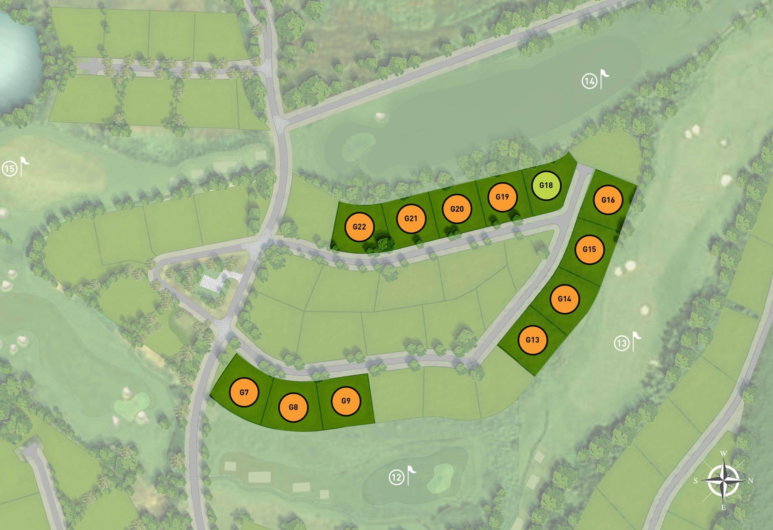 Anahita Mauritius Hedonia golf villas site plan